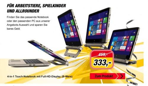 MEDION AKOYA S6214T: 4-in-1 Convertible-Notebook für 333 Euro