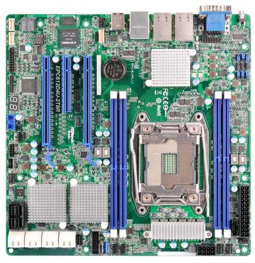 Bild: ASRock: mATX-Server-Mainboard mit Sockel LGA 2011-v3