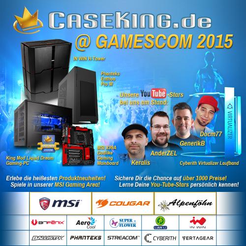 Caseking auf der Gamescom: 1000 Preise zu gewinnen