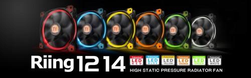 Bild: Thermaltake: Neue Riing-LED-Lüfter in gelb und orange vorgestellt