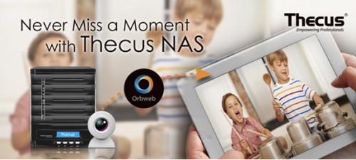 Thecus NAS für Heimüberwachung mittels Webcam