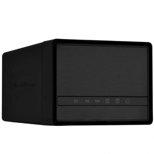 Bild: SilverStone DS222: Kompaktes Festplattengehäuse mit Platz für zwei 2,5-Zoll-Laufwerke