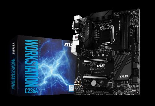 MSI C236 Workstations: Mainboards für Skylake-Xeon-Prozessoren
