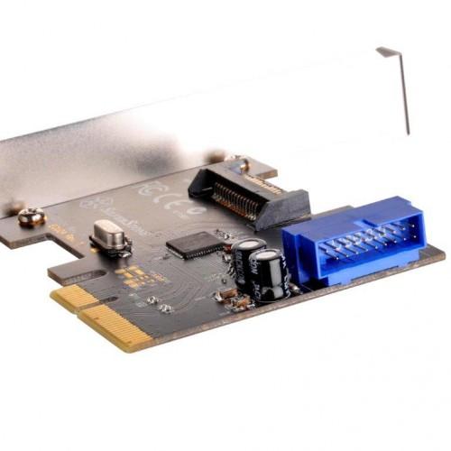 Bild: SilverStone ECU04: Erweiterungskarte für USB-3.1-Anschlüsse