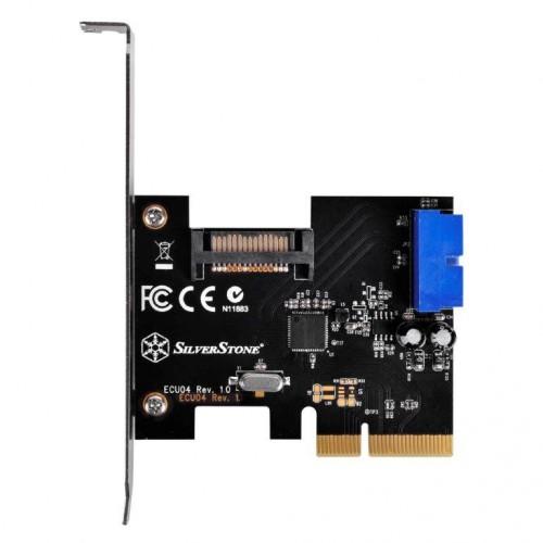SilverStone ECU04: Erweiterungskarte für USB-3.1-Anschlüsse