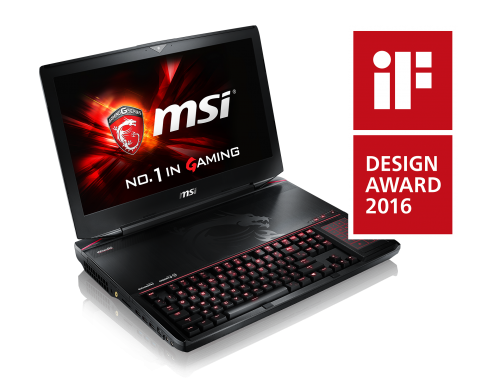 MSI GT80 Titan Gaming Notebook gewinnt iF Design Award 2016