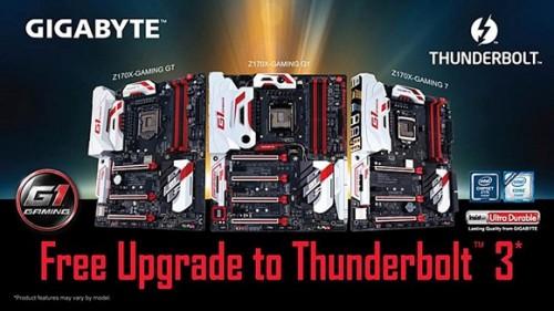 Bild: Gigabyte auf der CeBIT 2016: Mainboards mit Thunderbolt 3