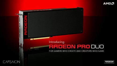 AMD Radeon Pro Duo: Zwei Fiji-GPUs für Virtual Reality