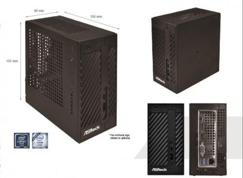 Bild: ASRock Desk Mini 110: NUC-System im Mini-STX-Format für Intels Core-Prozessoren