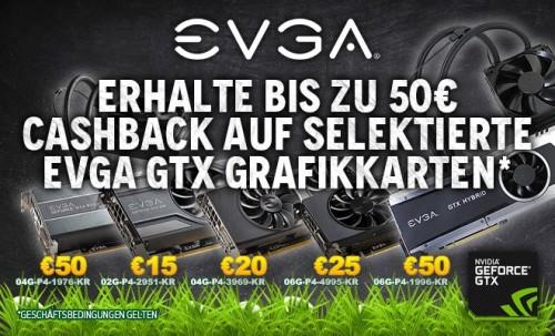 EVGA: Bis zu 50 Euro Cashback auf Grafikkarten der GeForce 900 Serie