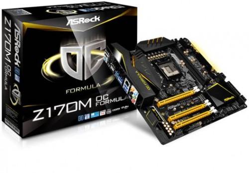 Bild: ASRock Z170M OC Formula das einzige Board mit Unterstützung für G.Skill Trident Z DDR4 4333MHz