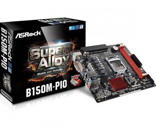 Bild: ASRock B150M-PIO: Micro-DTX-Mainboard mit abgewinkeltem PCIe-Slot