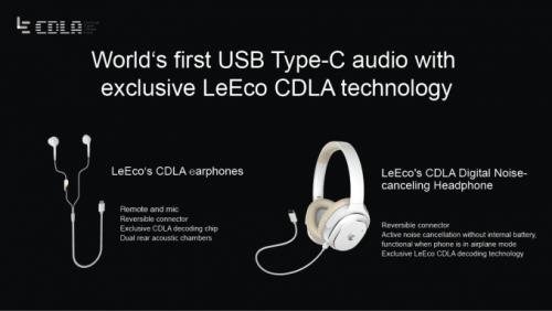 LeEco kündigte Smartphones mit Typ-C-Audio an