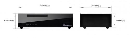 Bild: Silverstone ML09: Mini-ITX-HTPC-Gehäuse mit 7 Liter Volumen