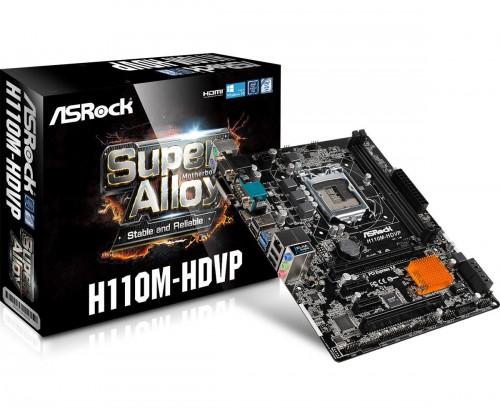 Bild: ASRock H110M-HDVP: Mainboard im Micro-ATX-Format