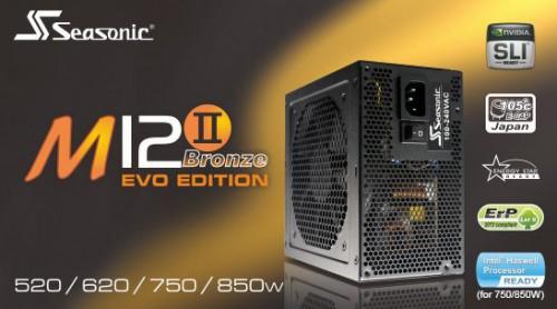 Seasonic M12II EVO Edition: Neue Netzteile mit 850 und 750 Watt