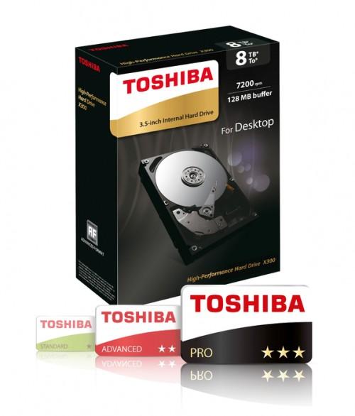 Toshiba X300: Neue HDD mit bis zu 8 TB Speicherplatz