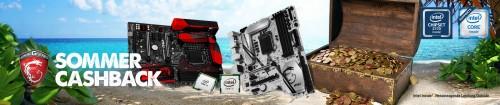 MSI und Intel: Summertime-Cashback-Aktion von bis zu 145 Euro