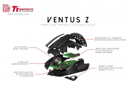 Tt eSPORTS Ventus Z: Gaming-Maus mit Belüftungslöchern