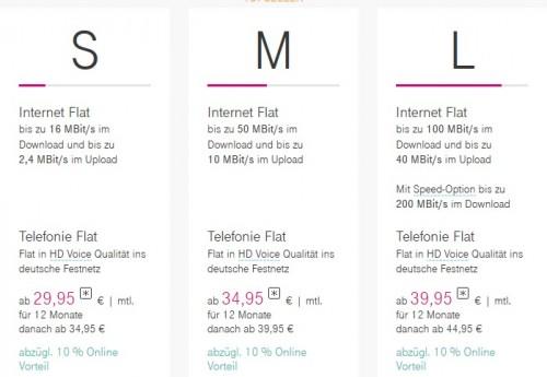 Telekom senkt Preise der 100-MBit-Anschlüsse deutlich
