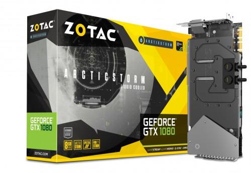 Bild: Zotac ArcticStorm Edition: Wassergekühlte GeForce GTX 1080 mit Single-Slot-Kühler