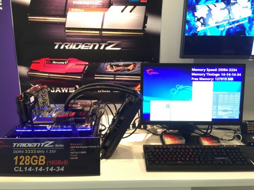 Bild: G.Skill zeigt DDR4-Kit mit 128 GB, 3333 MHz und CL14