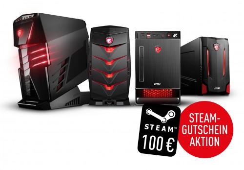 Bild: MSI: Steam-Gutschein von bis zu 100 Euro zu gewinnen