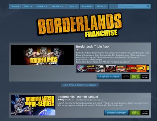 Borderlands-Franchise: Bis zu 86 Prozent Rabatt