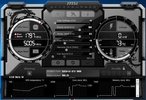 Bild: MSI Afterburner 4.3.0 bringt DX12-Overlay und Spannungsregelung für Pascal-GPUs