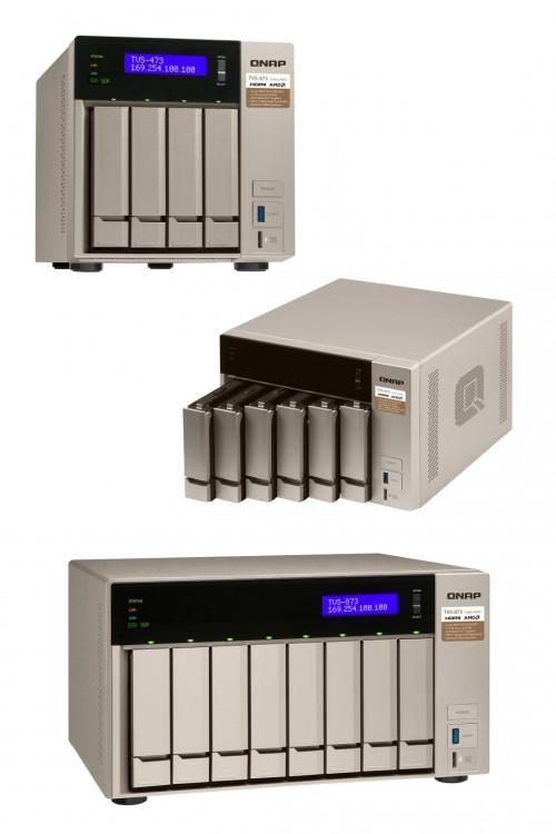 QNAP TVS-x73: Quad-Core-NAS mit USB-3.1 und 10-GbE-Erweiterbarkeit