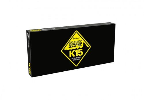 Sharkoon K15: Gaming-Tastatur mit Metall-Backplate