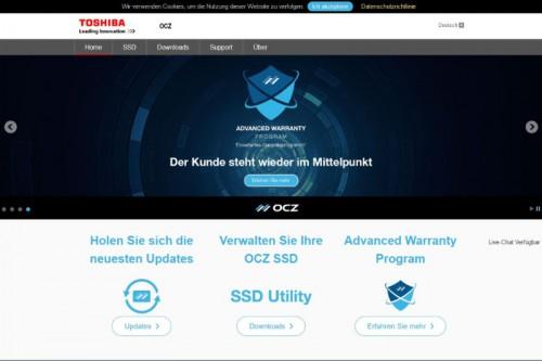 OCZ Toshiba jetzt mit deutschsprachiger Website