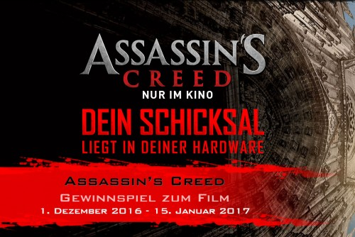 Bild: MSI: Gewinnspiel zum Filmstart von Assassins Creed