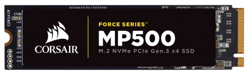 Bild: Corsair Force Series MP500: Neue M.2-SSDs mit NVMe