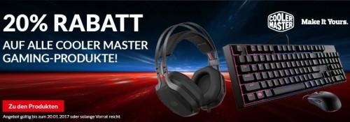 Bild: Cooler Master: 20 Prozent Rabatt auf alle Gaming-Produkte