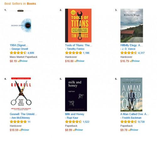 Nach Trump: 1984 stürmt in den USA auf Platz 1 der Amazon-Bestseller-Liste
