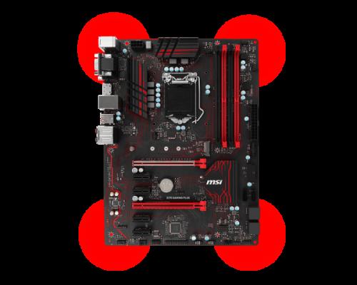 Bild: MSI Z270 Gaming Plus: Günstiges Z270-Mainboard im schicken Rot-Schwarzen-Design