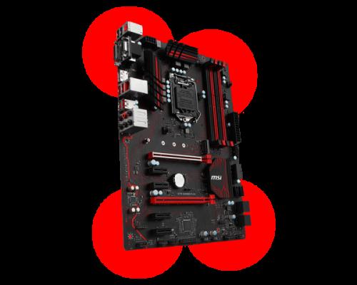 MSI Z270 Gaming Plus: Günstiges Z270-Mainboard im schicken Rot-Schwarzen-Design