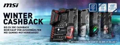 Bild: MSI verlängert Winter-Cashback-Aktion für Intel-Mainboards
