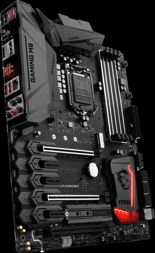 MSI Z270 Gaming M6 AC: Gaming-Mainboard mit WiFi-Karte