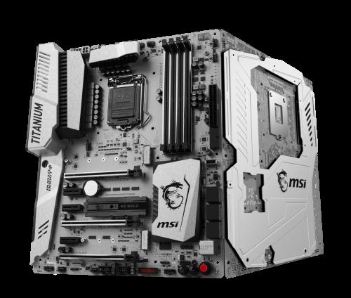 Bild: MSI Z270 MPower Gaming Titanium: Ein Mainboard mit Metall-Backplate