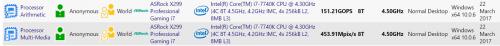 Bild: Intel Core i7-7740K mit X299-Mainboard von ASRock gesichtet