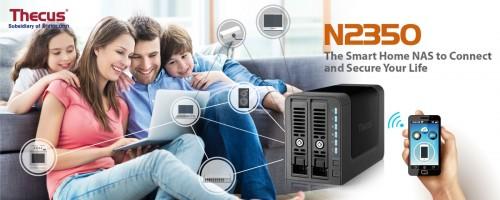 Thecus N2350: 2-Bay-NAS für Privatanwender