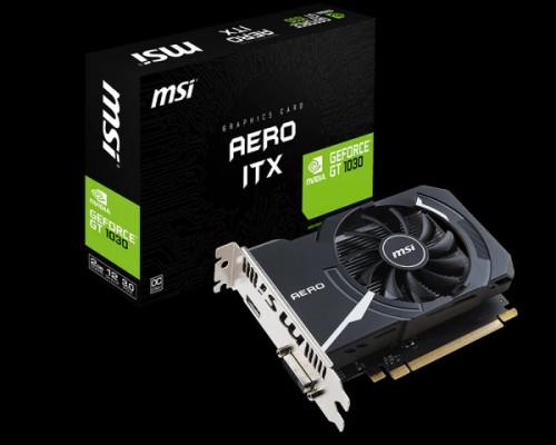 Bild: MSI: Sechs GeForce GT 1030 zum Start