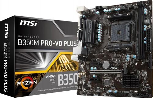 MSI B350M und A320M Pro-VD: Mainboards für Ryzen-CPUs