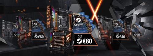 Bild: Gigabyte X299 Aorus Mainboards mit 80 Euro Steam-Gutschein