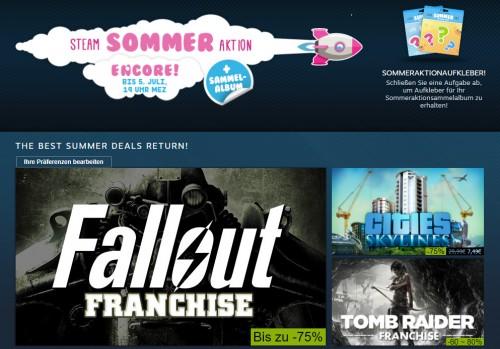 Steam Sommer Aktion endet heute - Die besten Angebote in der Übersicht