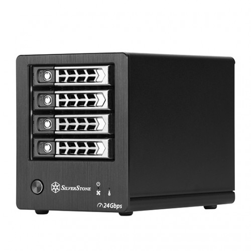 SilverStone TS421S: 4-Bay-Drive-Storage mit Mini-SAS-SFF-8088-Interface