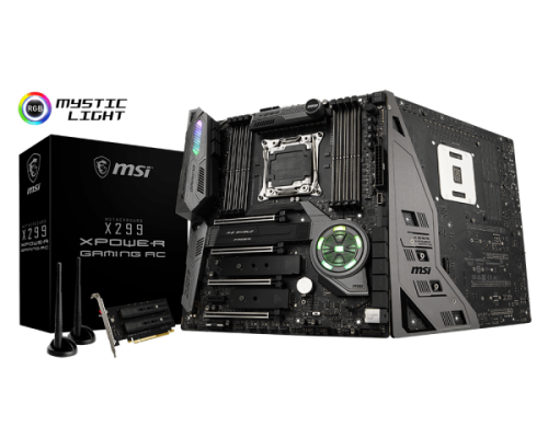Bild: MSI X299 XPower Gaming AC: E-ATX-Mainboard der absoluten Oberklasse