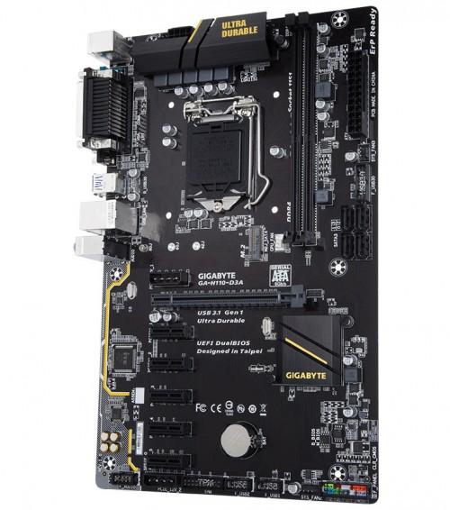 Bild: Gigabyte GA-H110-D3A: Günstiges Mining-Board vorgestellt